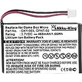 Akku-King 20106729 iones de litio 460mAh 3.7V batería recargable - Batería/Pila recargable (iones de litio, 460 mAh, Consola de juegos, 3,7 V, 1,7 Wh, Negro)