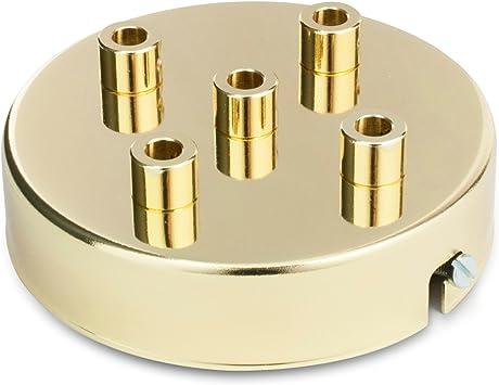Deckenbaldachin Lampenbaldachin Metall 5 Fach Mit 5 Kabelauslässen 100x24mm Messing Finish Inkl Zugentlastung Aus Metall Baumarkt