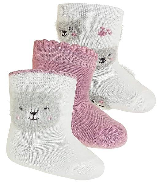 EveryKid Ewers 3 o 6 Pack Chica Calcetines Pack de ahorro Marca Medias Calcetines Calcetines kleinkind ganzjährig Teddy para niños (EW de 205038 EB-W18 ...