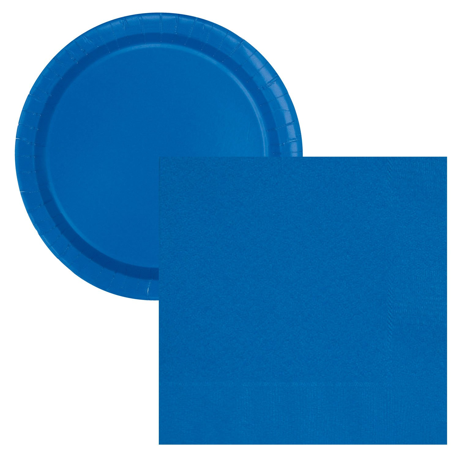 Caribbean Teal Lobyn Value Packs New Simple Solids Party Tableware Plate and Napkin Set Serves 16