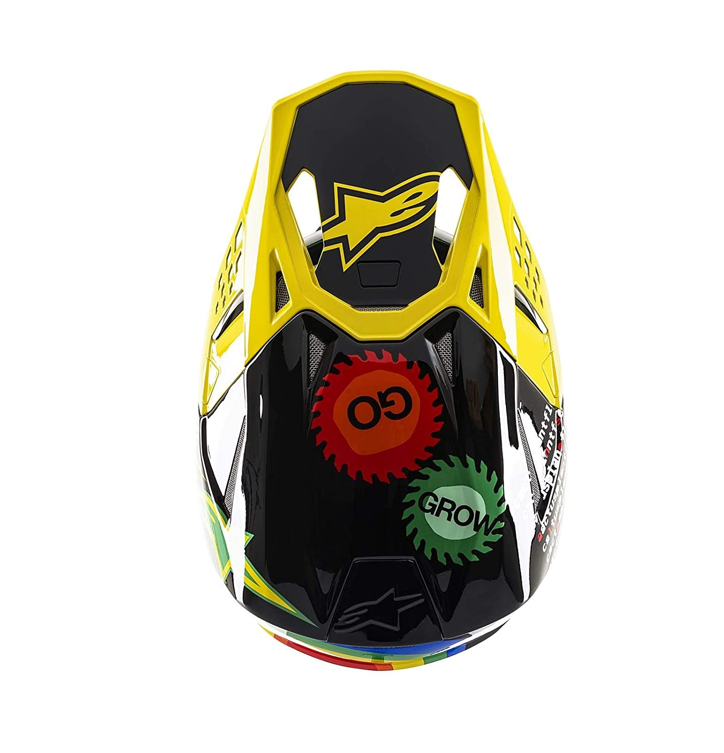 Alpinestars Casco Mx 2019 Sm8 Limited Edition Cactus S, Nero