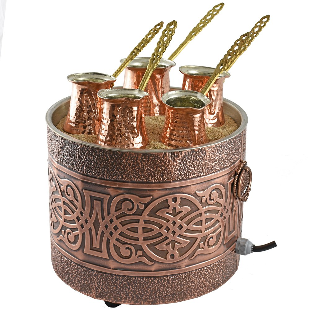Turkish Sand Coffee 9.85 inches, Copper Sand Brewer Machine, Turkish Coffee Machine, Coffee on Sand, Copper Pot, Turkish Coffee Pot, Restaurant Hotel Coffee Shops, Third Wave Coffee