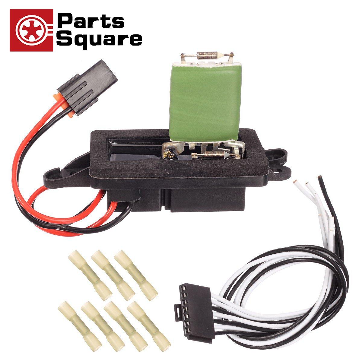 PartsSquare 89019088 Manual Blower Motor Resistor Replacement for 2002 2003 2004 2005 2006 CHEVROLET AVALANCHE 1500 2500 GMC YUKON XL 1500 2002 2003 2004 2005 2006 2007 CHEVROLET SUBURBAN 1500 2500