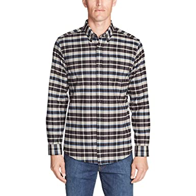 0adf07dee418 Eddie Bauer Men s Eddie s Favorite Flannel Classic Fit Shirt - Plaid at  Amazon Men s Clothing store