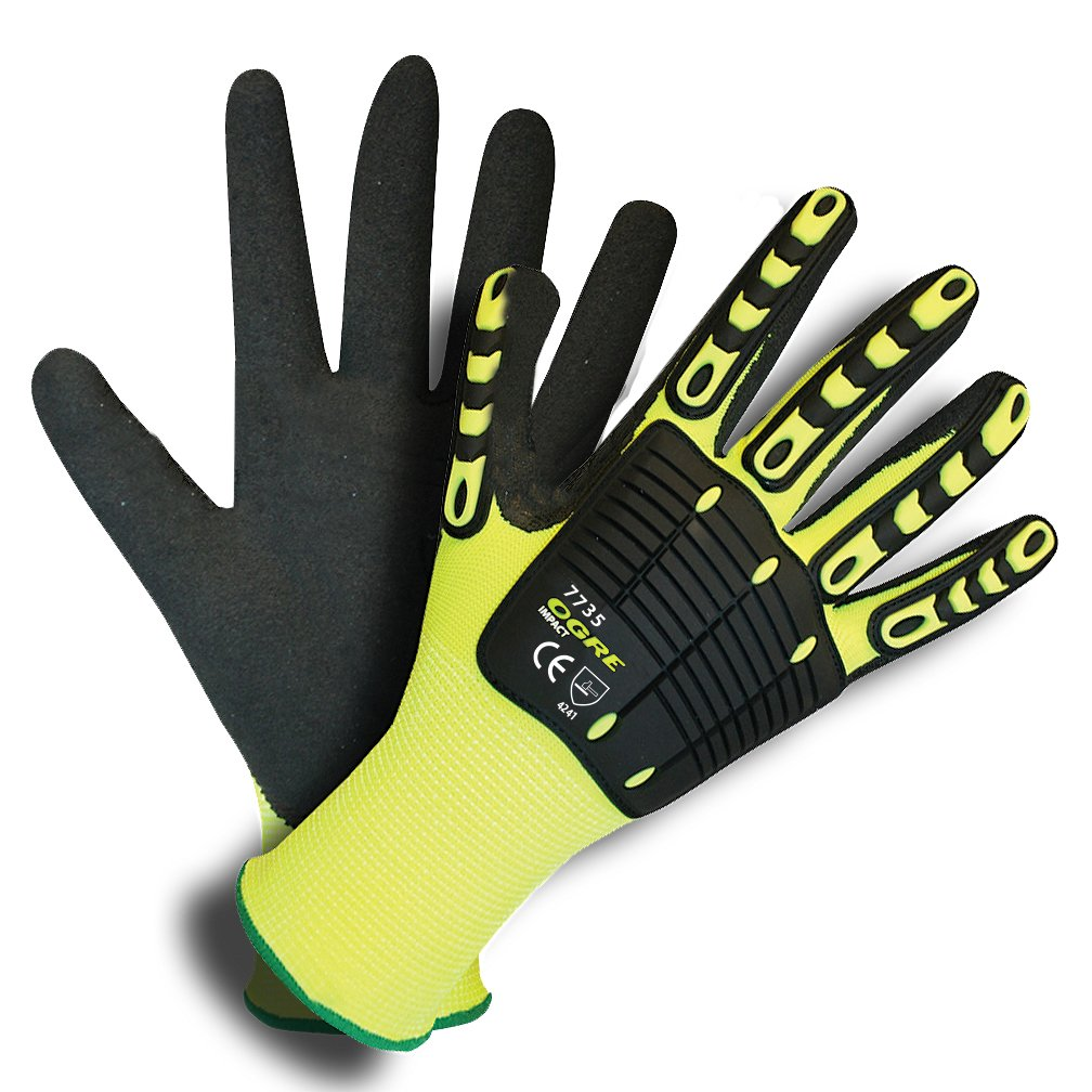 7735 Ogre Impact Activity-Mechanics Gloves 3 pairs - Medium