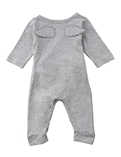 b9509590c02 Gogoboi Angel Wings Newborn Baby Boys Girls Romper Outfits Long Sleeve  Jumpsuit Clothes for Infant Winter