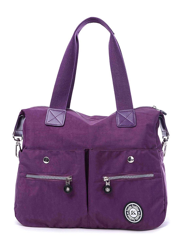 Longzibog Nylon 2016 New Simple Style Fashion Tote Top Handle Shoulder Cross Body Bag Satchel
