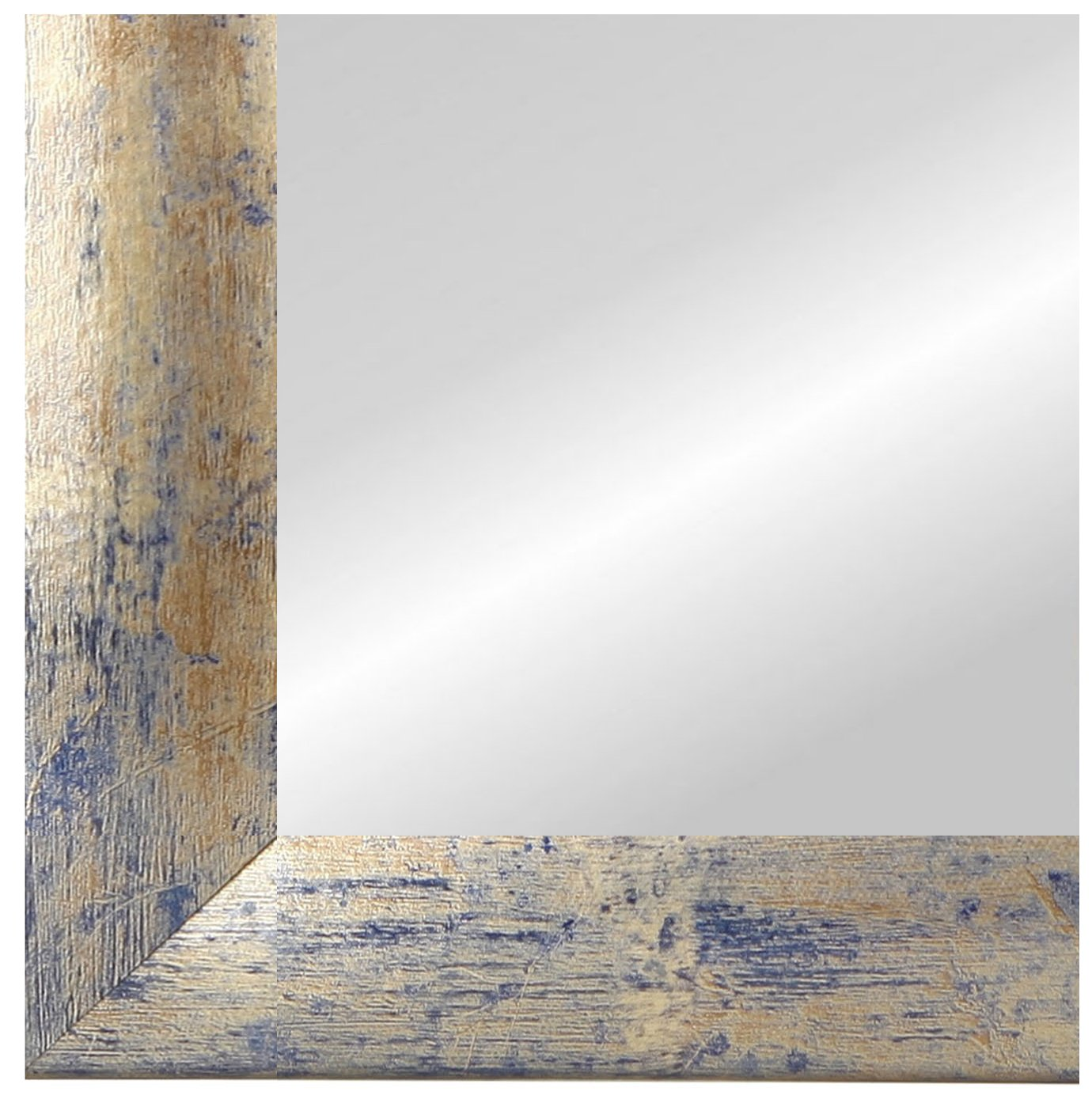 CAPRY 100 x 90 cm Spiegel nach Maß mit Rahmen, Rahmen Farbe: Weiss ...