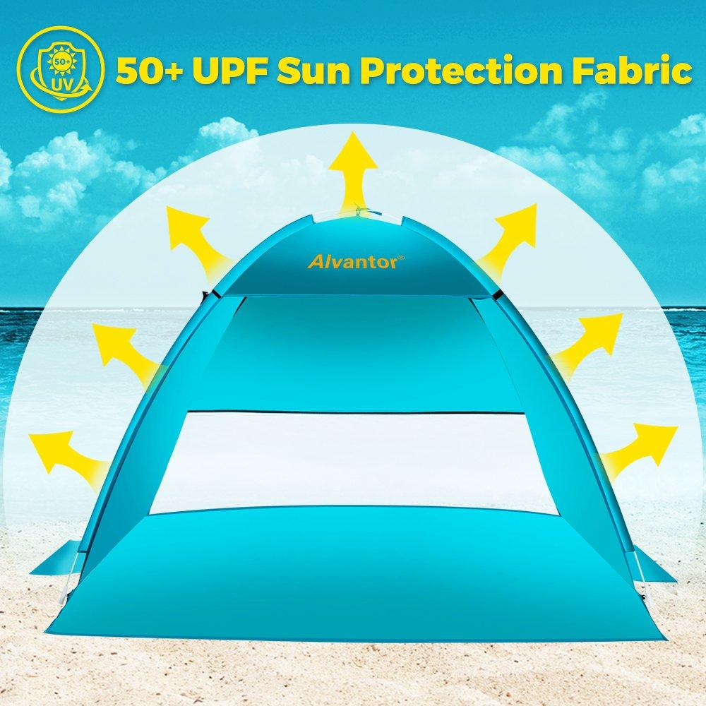 Refugio para el Sol Paraguas de Playa CoolHut para Playa Pantalla de Cabana port/átil instant/ánea de Easyup by para Exteriores con protecci/ón UV 50+ m/ás Ligero y m/ás Estable Alvantor