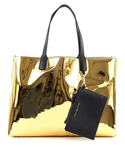 4eaeb265 TOMMY HILFIGER Iconic Tommy Tote Mirror Metallic: Amazon.co.uk: Shoes & Bags