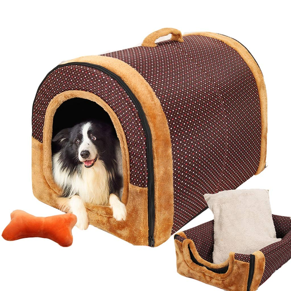 D XX-Large D XX-Large B&F Kennel, 2 In 1 Dog House Large Dog Winter Warm Washable Mattress House Pet Supplies Cat Caves (color   D, Size   XXL)