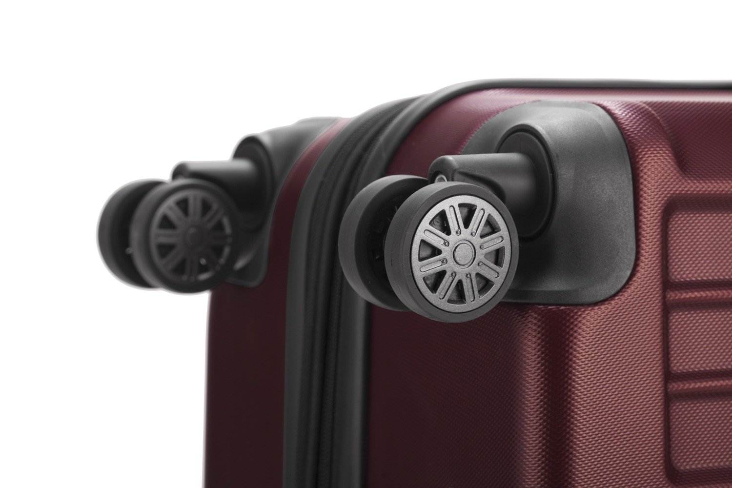 HAUPTSTADTKOFFER X-Berg - Set of 3 Hard-side Luggages matt Suitcase Hardside Spinner Trolley Expandable (20¡°, 24¡° & 28¡°) TSA Burgundy by Hauptstadtkoffer