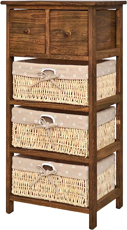 Amazon De Kommode Shabby Vintage Used Look Braun Schrank Bad Flur