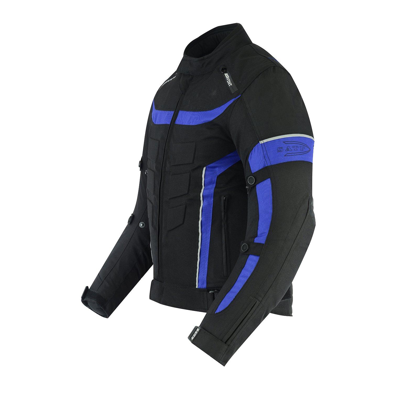 S/ÄTF Motorradjacke Textiljacke Atmungsaktiv wasserdicht winddicht Mit Protektoren Gr S bis 6XL 2XL