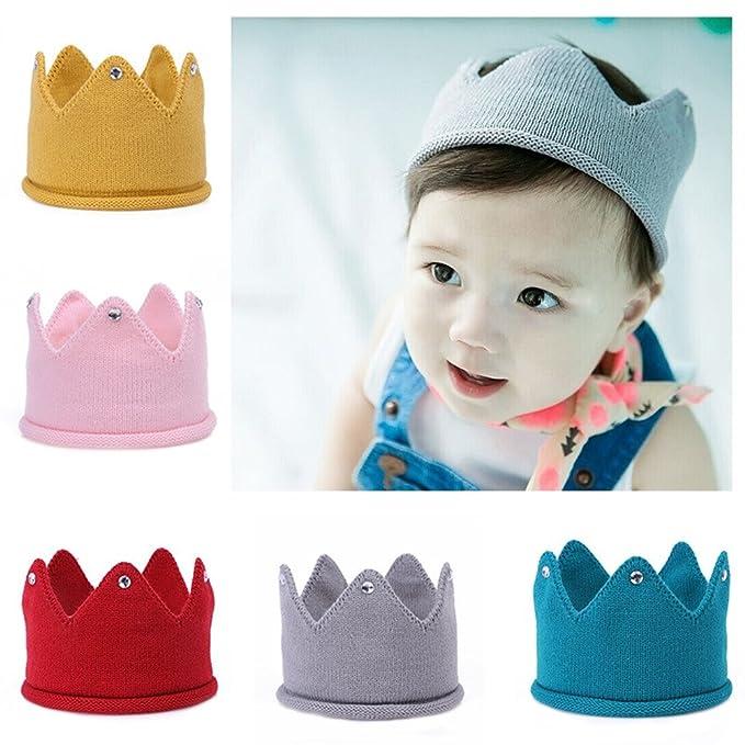f79af286b Uminilife Baby Crown Hats Toddler Sweater Birthday Hat Newborn Baby ...