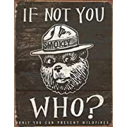 Smokey Bear - If Not You Who? Tin Sign 13 x 16in