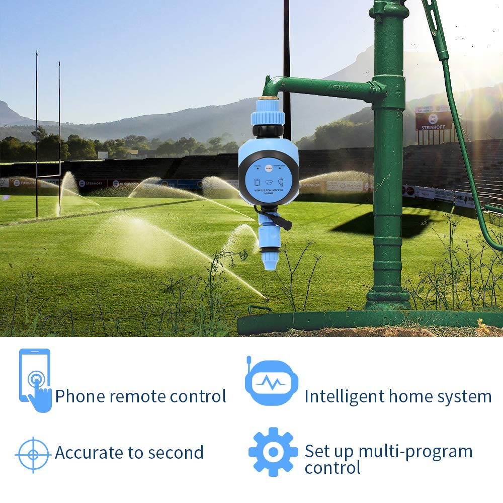 Wasser Gateway 3//4 1//2 Tippen Automatische Garten Bew/ässerung Digitale Bew/ässerung Timer AC Adapter Powered Elektronische Wasser Timer WiFi Telefon Fernbedienung Schlauch Wasserhahn Timer