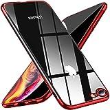 iPhone 8 ケース/iPhone7 ケース クリア tpu 透明ケース 耐衝撃 軽量 薄型 メッキ加工 ケース 耐摩擦 クリアケース,TPU ケース,アイフォン アイフォン 落下防止 耐震,カメラ保護,qi充電対応 黄ばみ防止