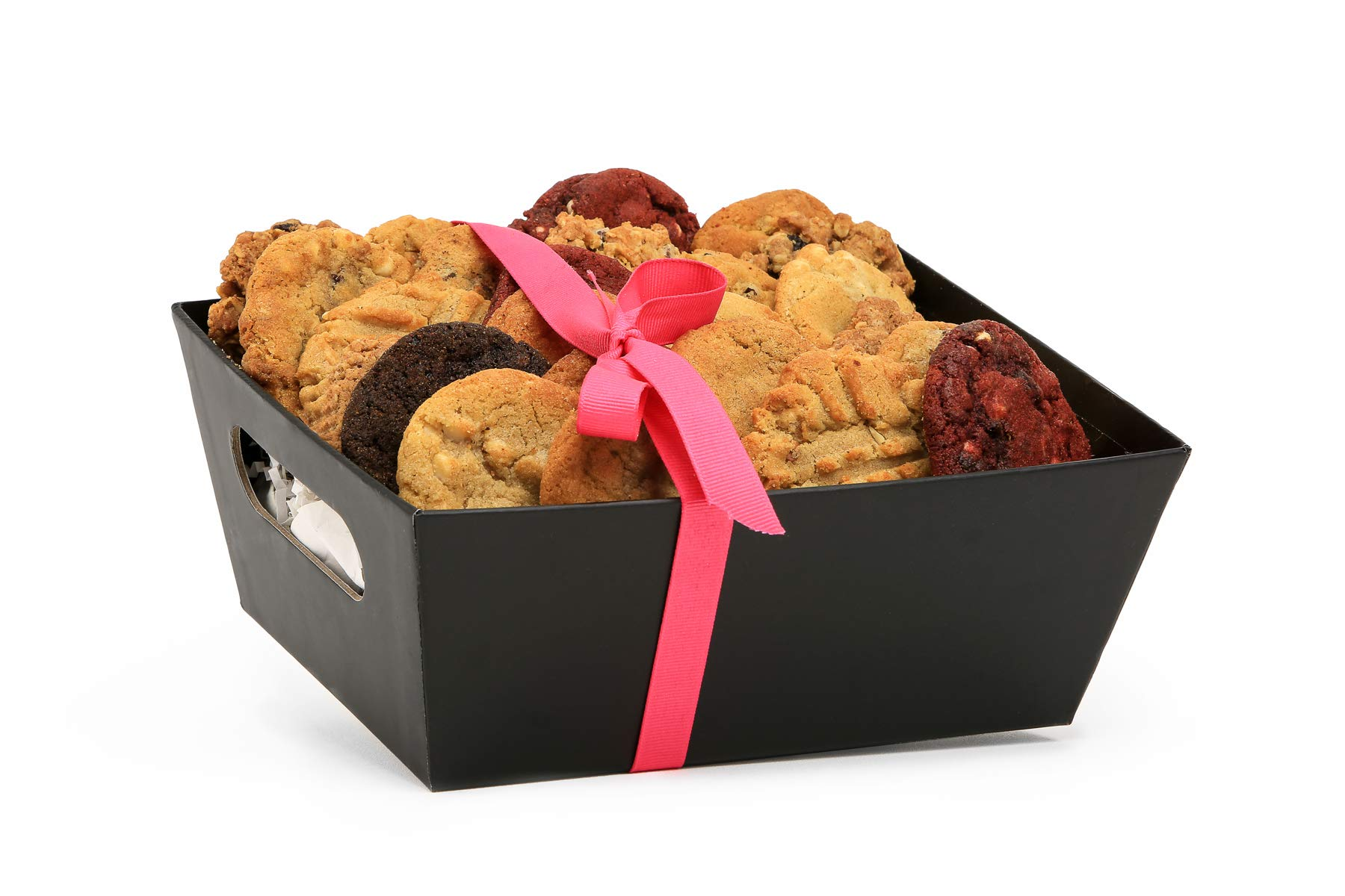 Cookies From Home -''Black Gourmet Tray'' Freshly Hand Baked Gourmet Cookies - 90 Gluten Free Cookies by Cookies From Home