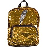 Style.Lab Magic Sequin! Reversible Gold to Silver Mini Backpack, Multicolor