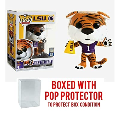 Mike The Tiger [LSU]: Funko Pop College Vinyl Figure & 1 Compatible Graphic Protector Bundle (006 - 42860 - B): Toys & Games