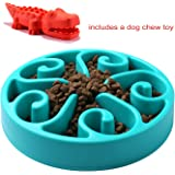 Slow Feed Dog Bowl, Dog Chew Toy, Fun Feeder Slow Bowl, Bloat Stop Dog Puzzle Bowl Maze, Cat Food Water Bowl Pet Interactive Non Skid Design