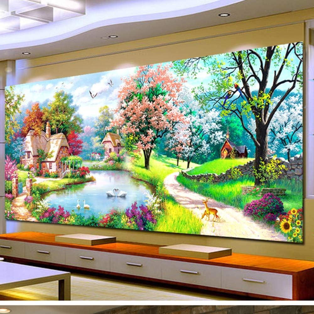5d diy pintura diamante decoraciones caseras grandes sala de estar sueño de hadas cubo redondo de rubik, 300x110 cm taladro completo: Amazon.es: Hogar