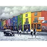 London Portobello Road. Fine Art oil on canvas painting - Superb quality and craftsmanship, hand made wall art