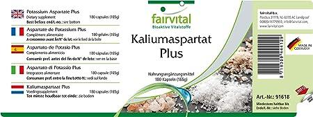 Aspartato de Potasio - VEGANO - Altamente dosificado - 180 ...