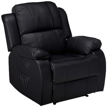 reclining sofa chair. Merax Barwick PU Heated Massage Recliner Sofa Ergonomic Lounge With 8  Vibration Motors, (Black Reclining Sofa Chair R