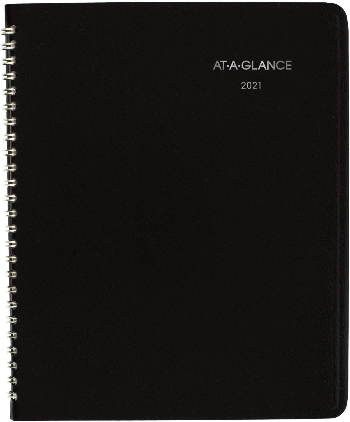 """2021 Monthly Planner by AT-A-GLANCE, 7"""" x 8-3/4"""", Medium, DayMinder, Black (G4000021) : Office Products"""