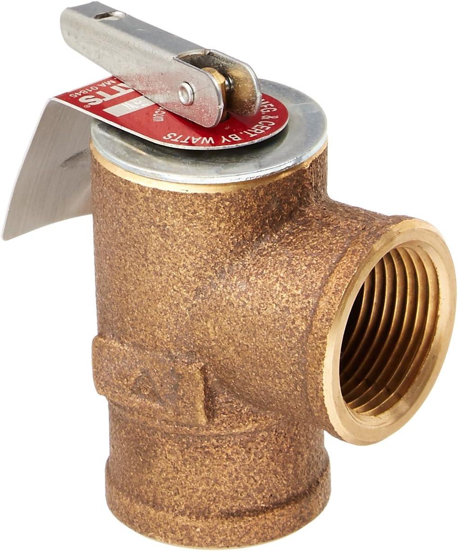 "Watts 0342691 30 PSI Pressure Relief Valve, Bronze, 3/4"" 335 M2-030"