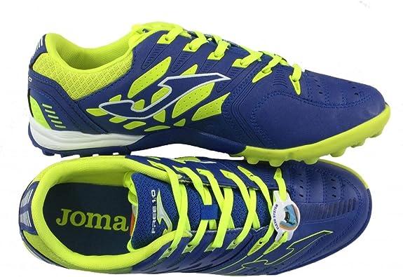 Zapatillas de fútbol s modelo Joma free 1.0 504 - Color fluor - Suela de goma (Turf) azul Size: 41: Amazon.es: Zapatos y complementos