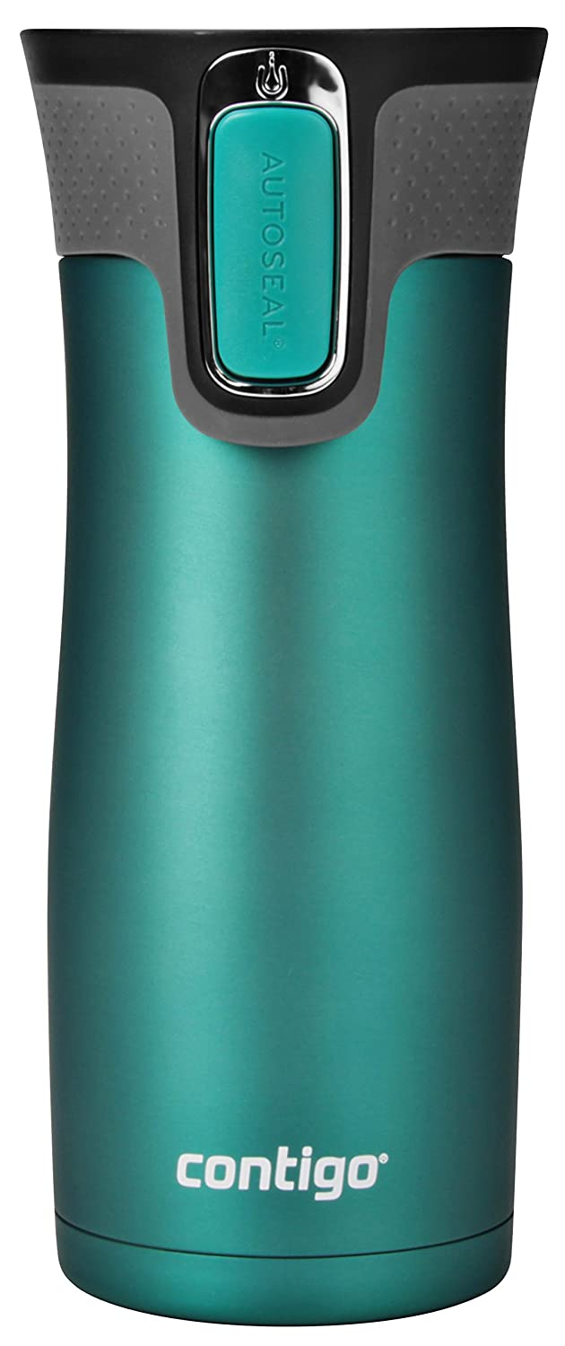 Contigo AUTOSEAL West Loop Vaccuum-Insulated Stainless Steel Travel Mug, 16oz, Biscay Bay