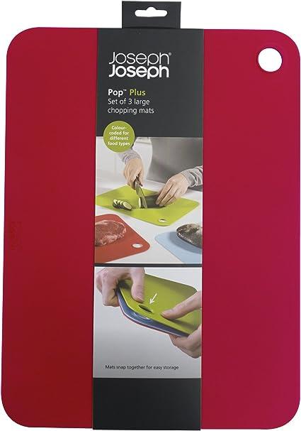 Joseph Joseph Pop Plus Multi-Colour Set of 3 Large Chopping Mats