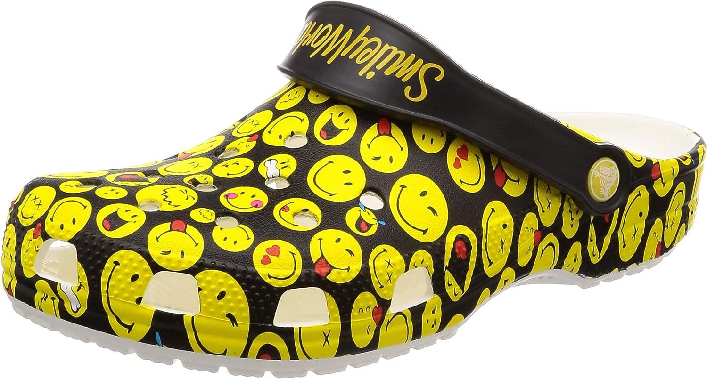 Crocs Men's and Women's Classic Smiley Clog