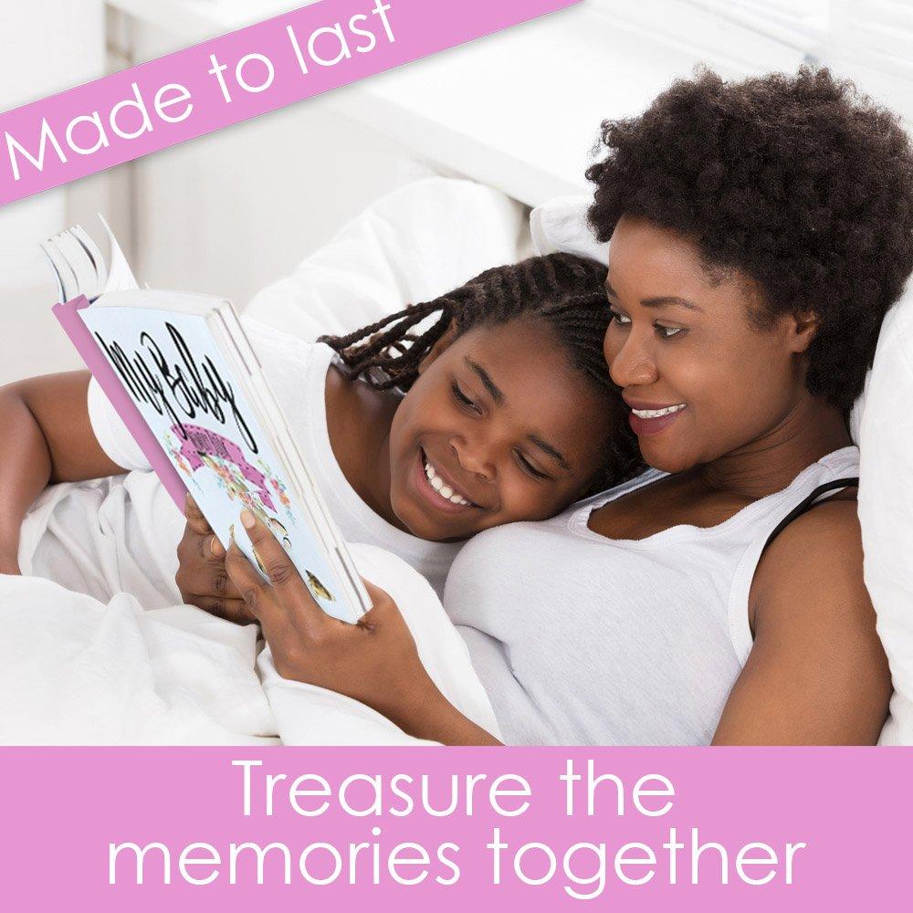 Baby Memory Book for Girls, Baby's Memory Book, Baby Book, Baby Girl Memory Book, Baby Record Book Pink 0-3 Years, Baby Girl Gift / Shower Gift / New Parents Gift, Keepsake Envelope, Gift Box