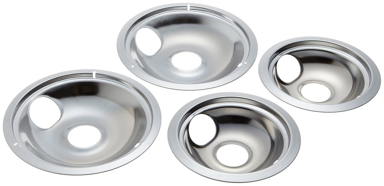 4pc Drip Pans Bowl Set 6 Quot Amp 8 Quot Frigidaire Kenmore