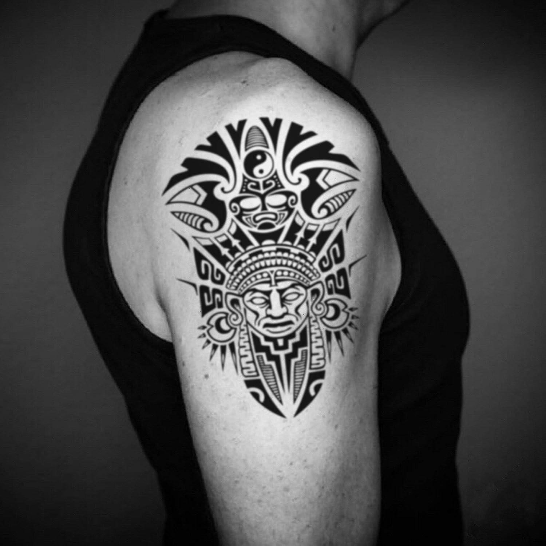 Tatuaje Temporal de Ascendientes del Guerrero Africano (2 Piezas ...