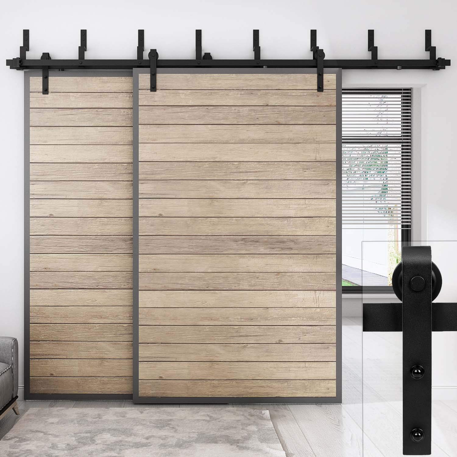 Amazon Easelife 10 Ft Bypass Sliding Barn Double Door Hardware