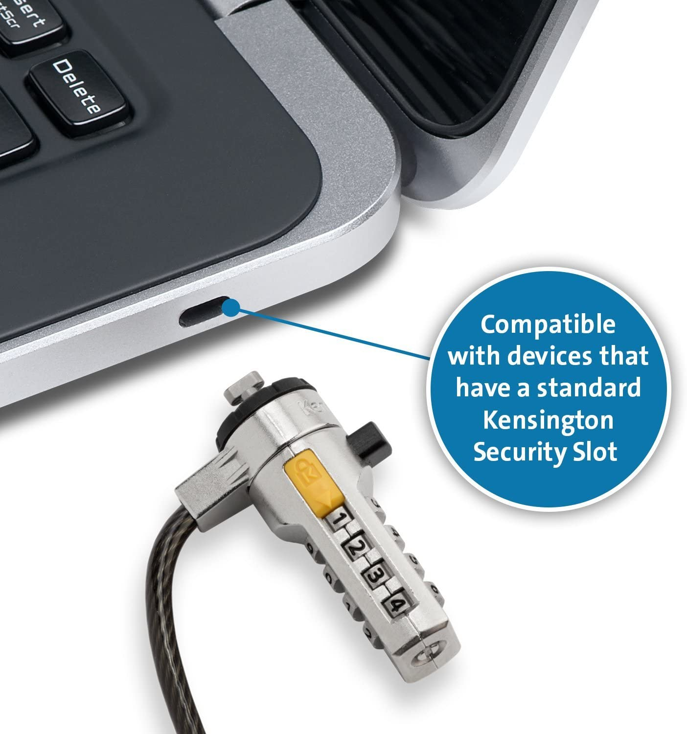 Renewed K64675US Kensington Combination Ultra Cable Lock for Laptops and Other Devices