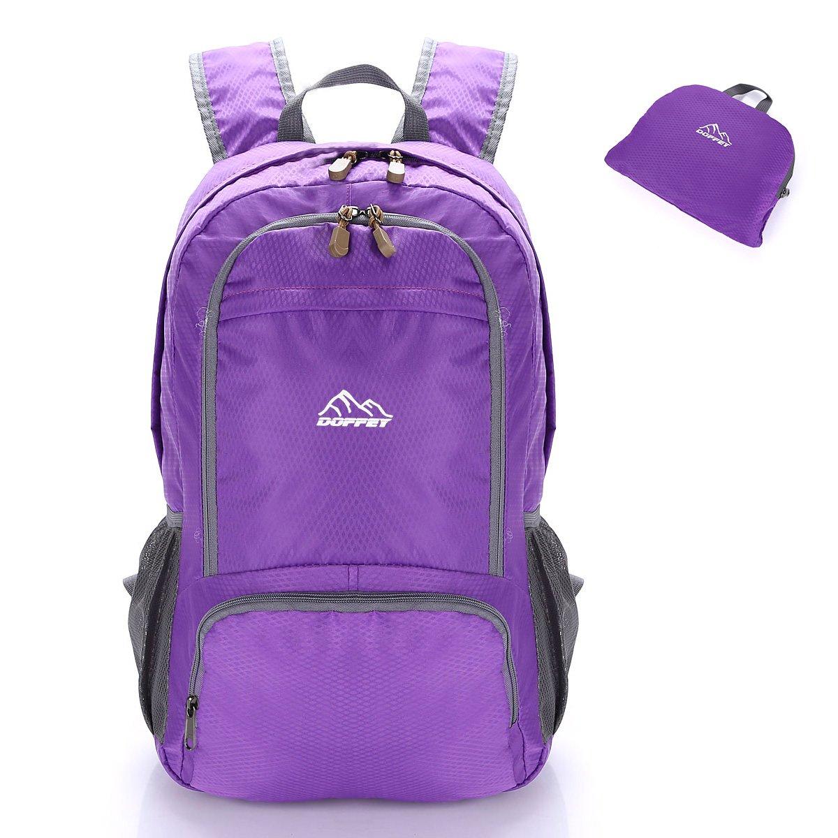 Doffey Lightweight Backpack, 25L Waterproof Packable Travel Hiking Backpack