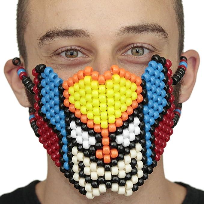 Mascara Kandi de Cara Completa de Wolverine por Kandi Gear, mascara de rave, mascara