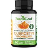 Quercetin 500mg with Bromelain, Vitamin C and Stinging Nettle – Advanced Sinus and Allergy Supplement – Natural Vegetable Cap