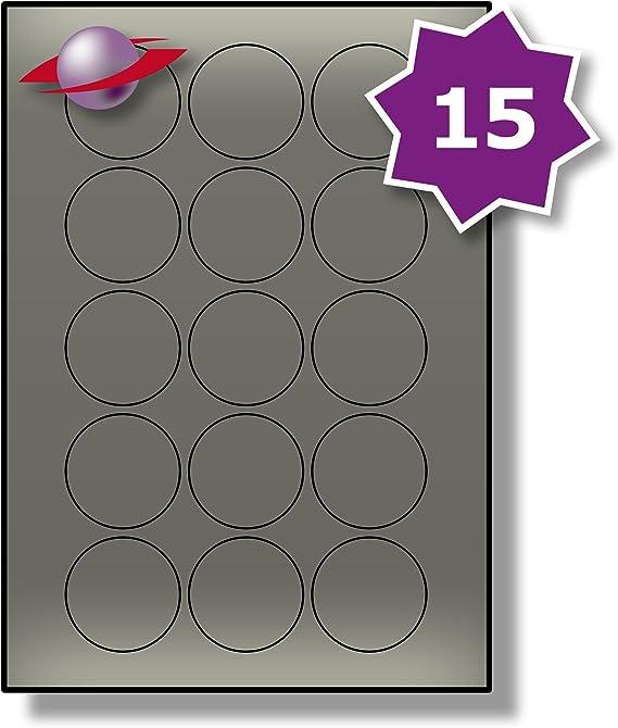 A4 Matt White Labels 24 Labels 45mm Diameter Circles Round Dots Circular Stickers Permanent WTP