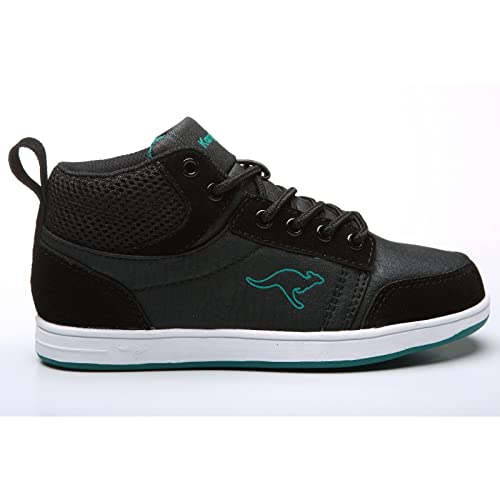 KangaROOS Synthetic, Suede Skye Black, Pewter Trainers 4 Youth