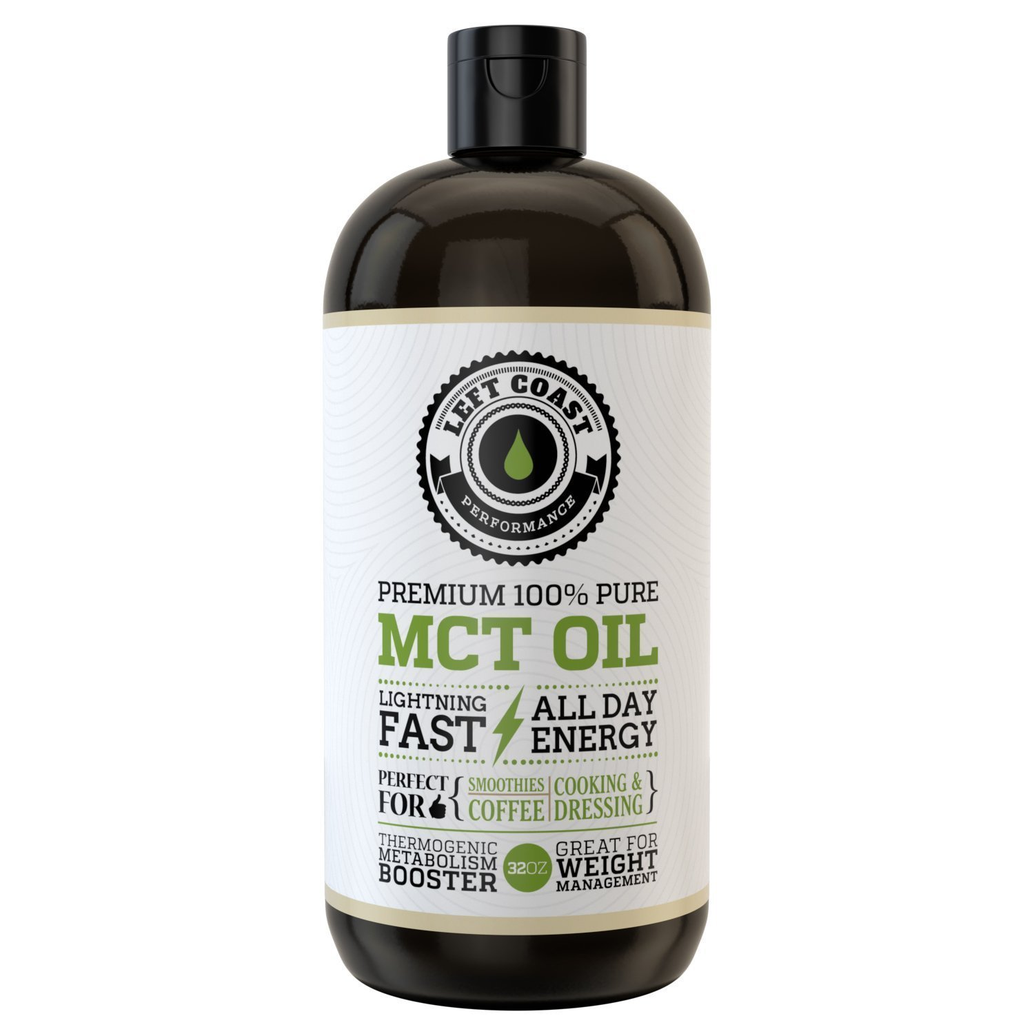 Premium MCT Oil from sustainable Coconuts. Huge 32 Oz. Keto, Easier To Absorb and Digest. Triple Filtered. Independent Quality Testing for every batch. Keto & Paleo Friendly. Packaged in USA.