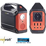 reVolt Powerstation: Solomvandlare och kraftbank, 42 Ah, 1 x 230 V, vardera 3 x 12 V & USB, 180 W (solgenerator…