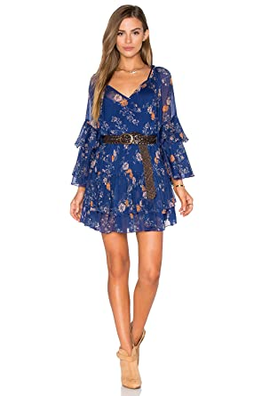 d202b8702b18 Free People 'Sunsetter' Floral Print Minidress Blue Combo Small at ...