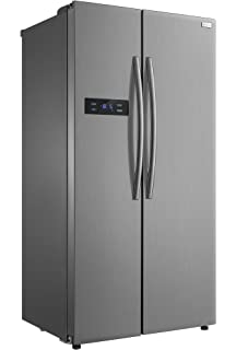 f38565eb192 LEC Aff90185W Freestanding A+ Rated American Fridge Freezer -White ...